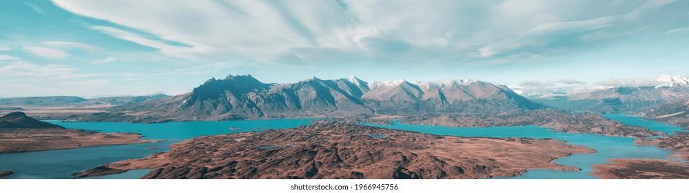 Beautiful landscapes in  Perito Moreno National Park, Patagonia, Argentina