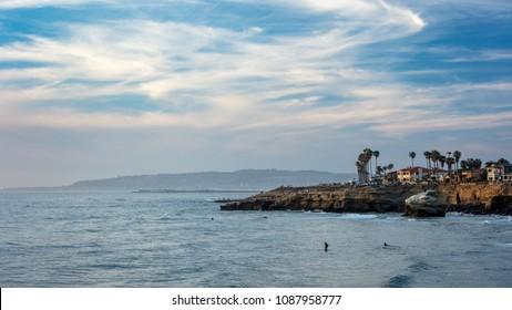 Beautiful landscapes of the Sunset Cliffs, San Diego, CA
