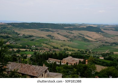 Beautiful landscapes in the Tuscan countryside near Montepulciano,italy