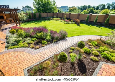 beautiful landscaping with beautiful plants and flowers