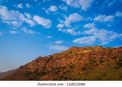 Beautiful landscaping view from Abha, Saudi arabia