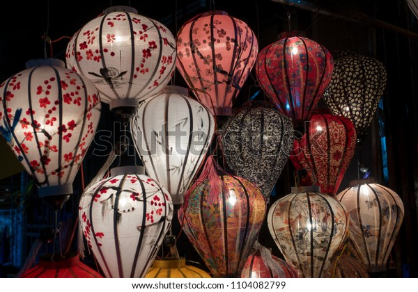 Beautiful lantern in Hoi An old town. Royalty high-quality stock image of very much lantern for sale and decoration in Hoi An. Hoi An, once known as Faifo and noted as a UNESCO World Heritage Site