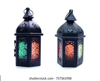 beautiful lantern isolation on white background