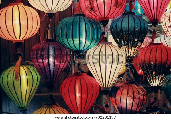Beautiful of lanterns at old town shop in Hoi An, Vietnam.