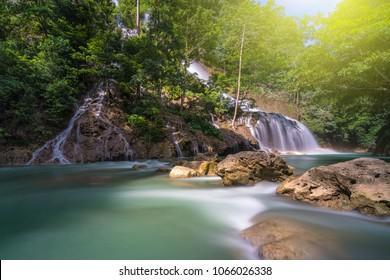 The beautiful Lapopu Waterfall. This waterfal is located in Sumba Island, Indonesia.