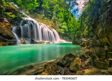 The beautiful Lapopu Waterfall. This waterfal is located in Sumba Island, Indonesia.