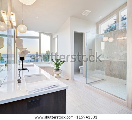 Beautiful Large Bathroom in Luxury Home