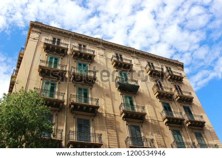 Beautiful Large Old House Palermo Italy Stock Photo (Edit ...