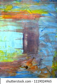 A Beautiful Large Scale Abstract painting on Canvas