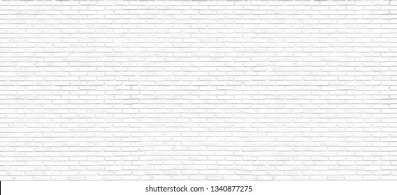The Beautiful Large Surface of White Brick Wall Texture or Soft Color Brick Wall as Background