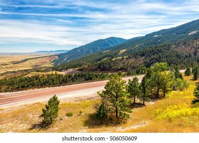 Beautiful late summer landscape outside of Sheridan, Wyoming