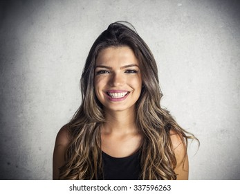 Beautiful latin girl smiling