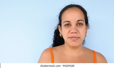 a beautiful latin woman doing nothing