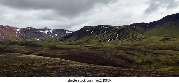 Beautiful Laugavegur mountains - South Iceland