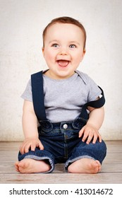 Beautiful laughing baby