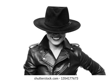 Beautiful laughing woman on a white background is isolated.
