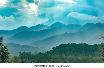 Beautiful layers of mountains and falling Sun rays on it.Clicked at West Kameng ,Arunachal Pradesh(India)