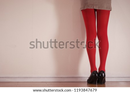 daf423fd4 Beautiful Leg Pose Collection Red Stockings Stock Photo (Edit Now ...