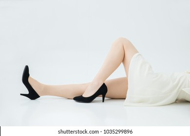 Beautiful leg of the woman