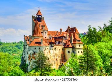 Beautiful legendary Bran (Dracula) historical castle of Transylvania, in Brasov region, Romania, Eastern Europe