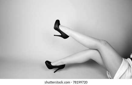 Beautiful legs and high hills shoes