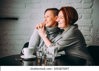Beautiful lesbian couple. LGBT and same sex marriage concept