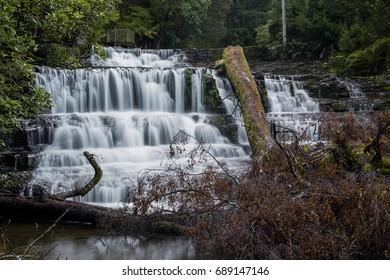 Beautiful Liffey Falls in the Midlands Region, Tasmania after heavy rain fall.