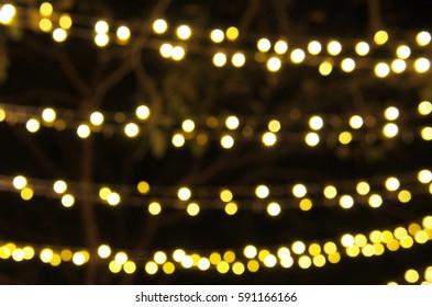 Beautiful Light Bokeh at Night Party.
