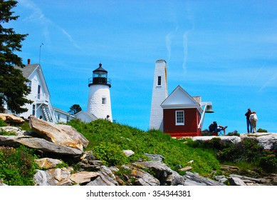 Beautiful light house in Maine, United States of America