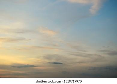 beautiful light in morning sky