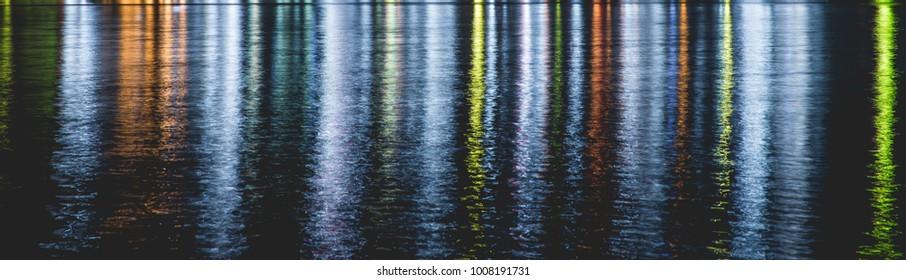 Beautiful light reflect on the water