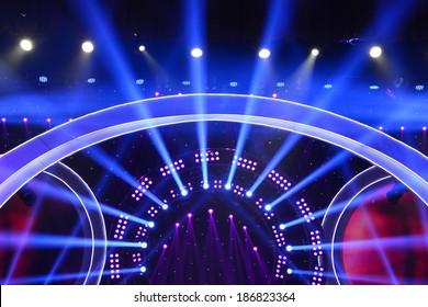 Beautiful light stage background