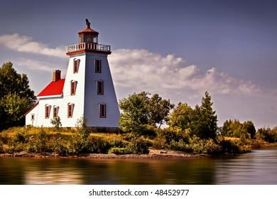 Beautiful Lighthouse Framed Against The Sky