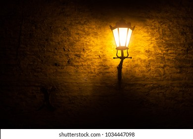 beautiful lighthouse on the wall, lamp