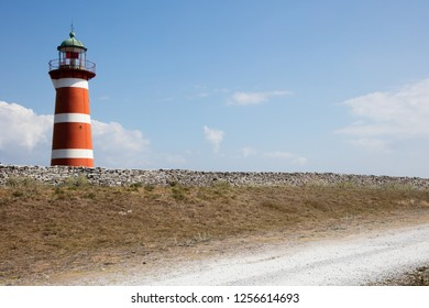 Beautiful lighthouse Sweden Gotland
