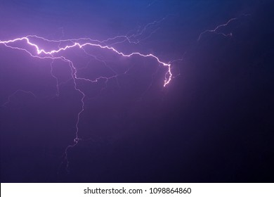 beautiful lightning during a thunderstorm