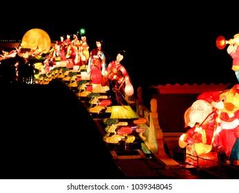 Beautiful lights and lanterns safari festival in Singapore