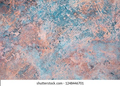 Beautiful Limestone fractured texture blue and orange