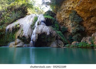 Beautiful limestone waterfall