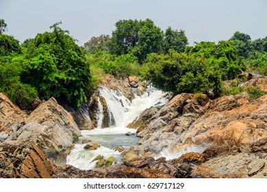 Beautiful Liphi Waterfall Devil Corridor SOM PHA MIT Fall in Southern Laos