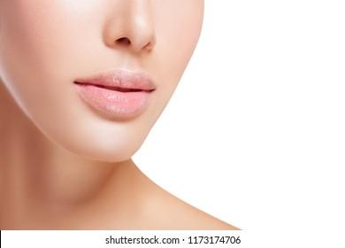 Beautiful Lips. Increased Lips. Cosmetic Beauty Procedures. - Image