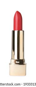 Beautiful lipstick isolated on white. Makeup product