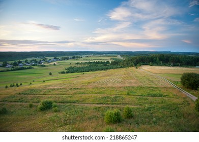 Beautiful Lithuanian Landscape at summer