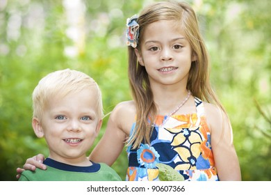 Beautiful Little Children outdoor portrait