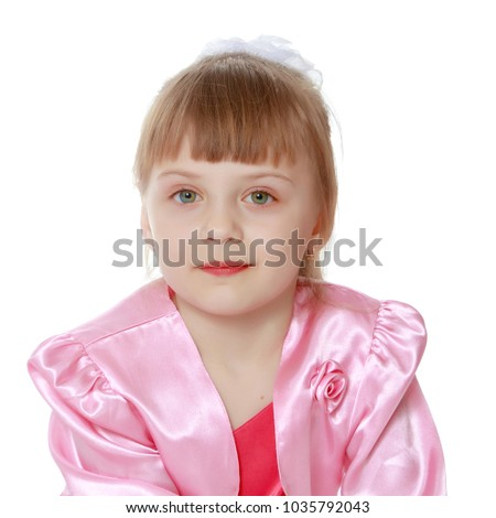 5b79abc64b9 Beautiful Little Girl 6 Years Old Stock Photo (Edit Now) 1035792043 ...