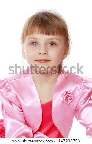 12bd4c90a73 Beautiful Little Girl 6 Years Old Stock Photo (Edit Now) 1147298753 ...