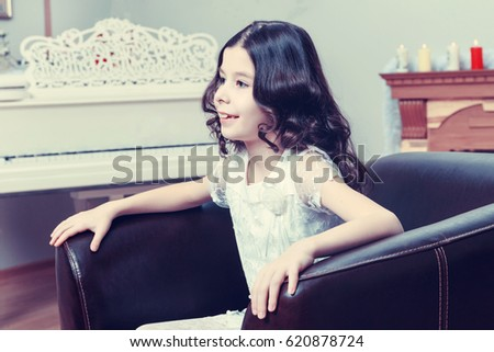 Beautiful Little Girl New Years Eve Stock Photo Edit Now 620878724