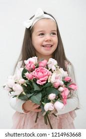 Beautiful little girl. Portrait. Studio shot