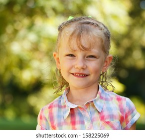A beautiful little girl with sweet smile