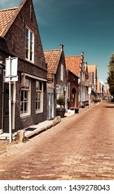 Beautiful little houses, town famous for its cheese production, stylish vintage city, nice European architecture, Edam, North Holland